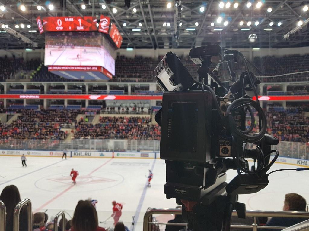 Съемки хоккея в Москве