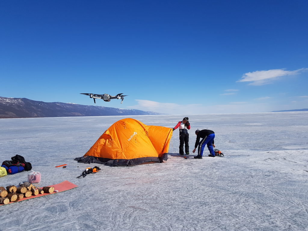 Телешоу на озере Байкал