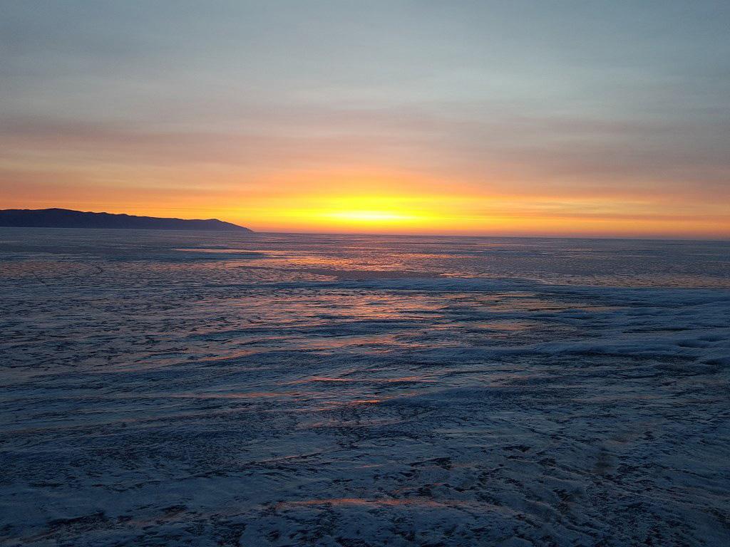 Киносъемки зимой на Байкале