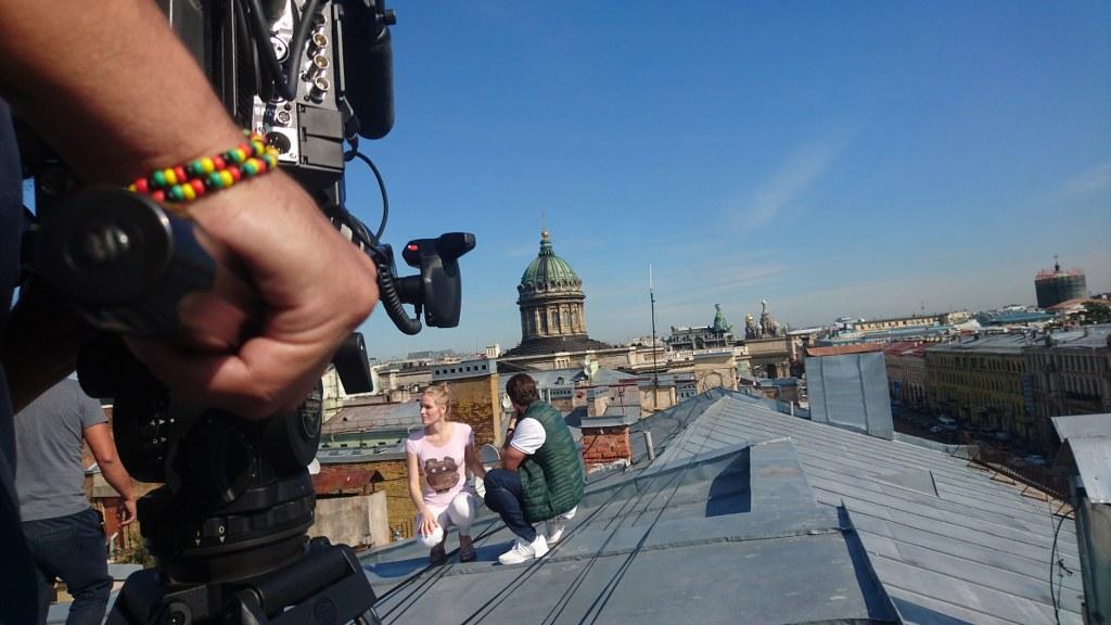 Съемки В санкт-Петербурге с крыши