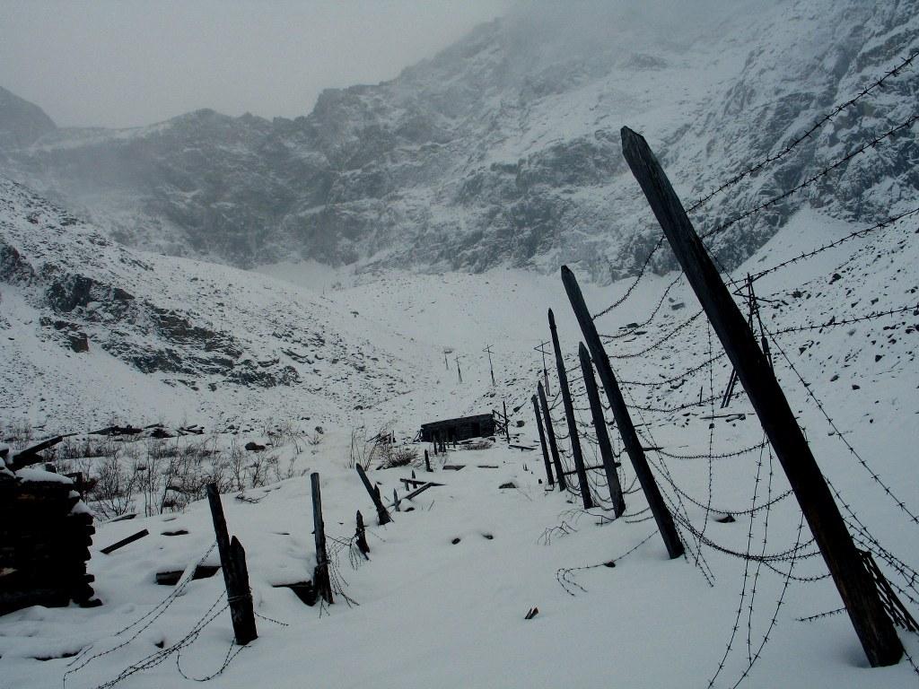 Остатки лагерей ГУЛАГ около Новой Чары