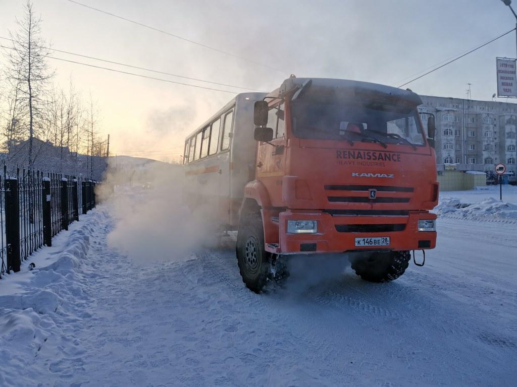 Бытовки и вахтовки для передвижения съемочной группы в отдалённых регионах россии