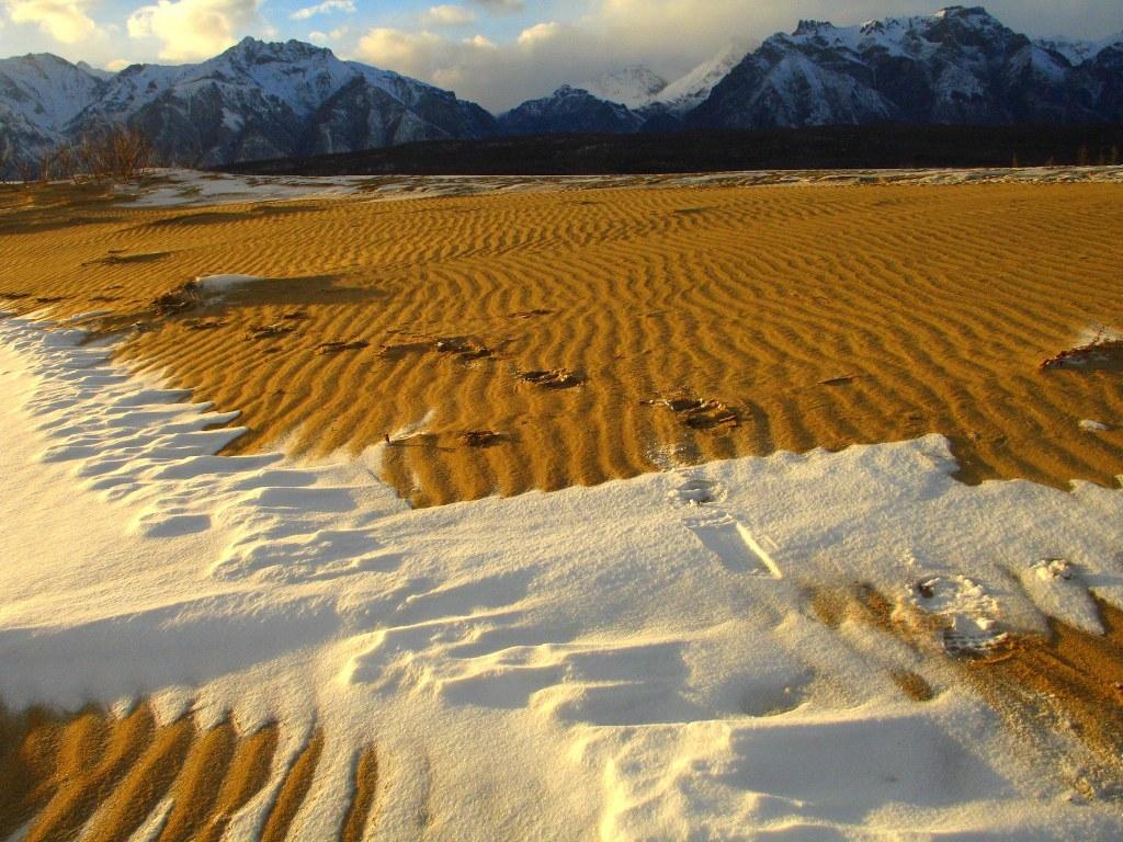 Съемка в Чарских песках