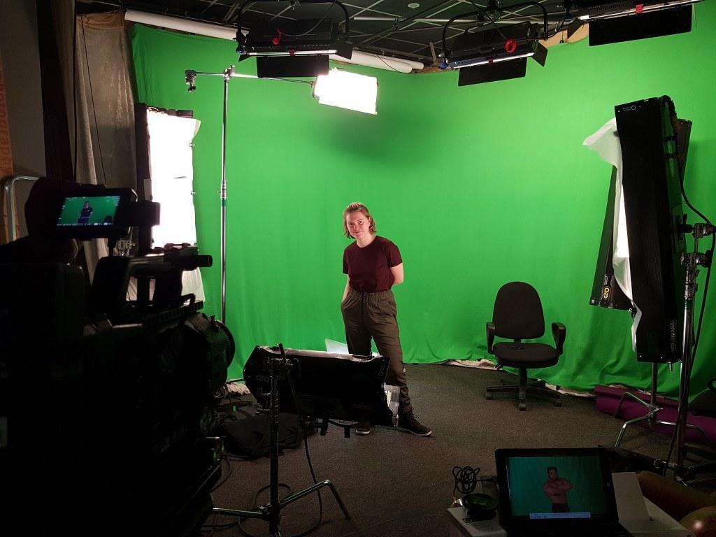 Трансляции из студии, хромакейный павильон в Санкт-Петербурге