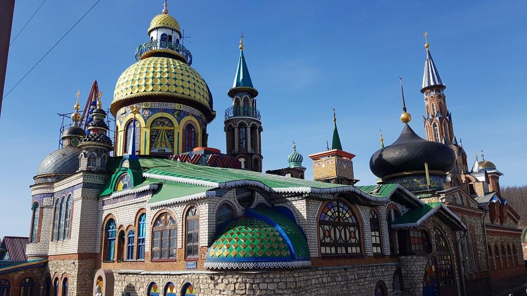 Съемки в храме всех религий в Казани