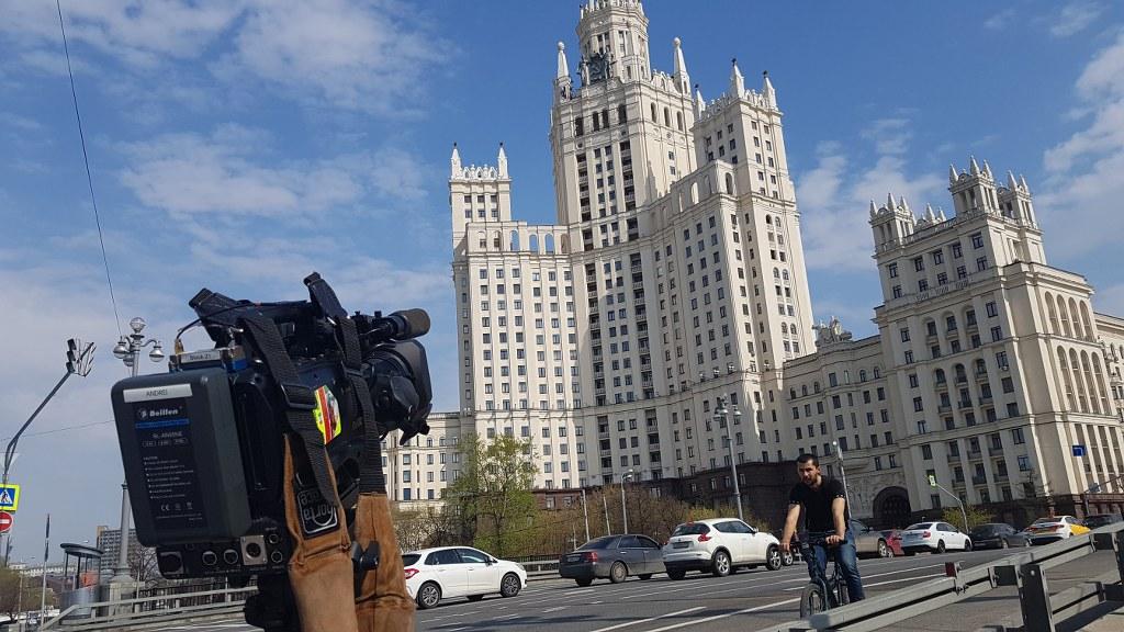 Съемки Сталинских Высоток в Москве